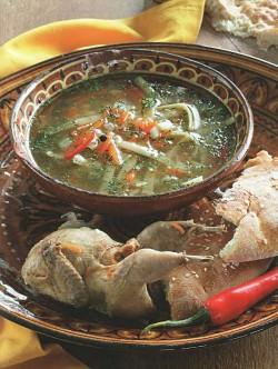Суп-лапша с перепелками
