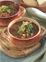 Машевый суп в горшочке с поджаркой