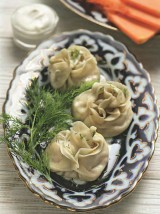 Манты в форме розы