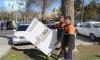 В Самарканде начали борьбу с рекламой на столбах и деревьях
