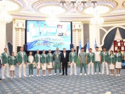 В Самарканде наградили спортсменов и тренеров за результаты на Олимпиаде