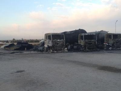 Под Самаркандом взорвалась цистерна со сжиженным газом: сгорело семь автомобилей